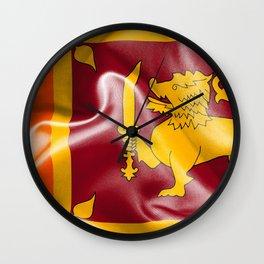 Sri Lanka Flag Wall Clock