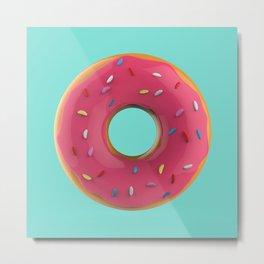 Donut Glam (Square) Metal Print