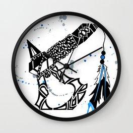 Watercolor Tomahawk Wall Clock