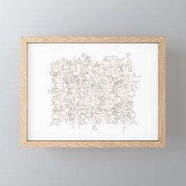 Yoga Manuscript Framed Mini Art Print