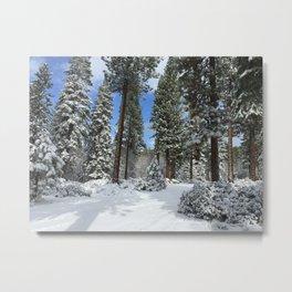 Tahoe Snow Metal Print