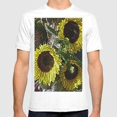 For the Sake of Sunflowers Mens Fitted Tee MEDIUM White