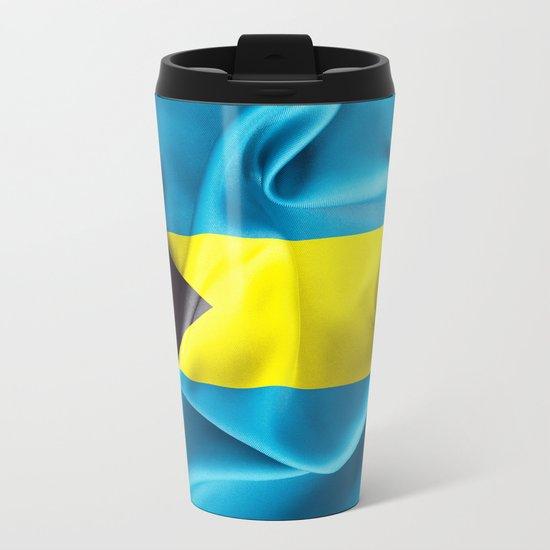 Bahamas Flag Metal Travel Mug