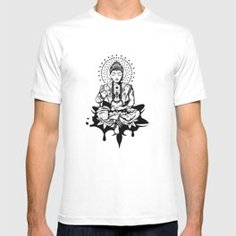 Buddha in lotus position T-shirt