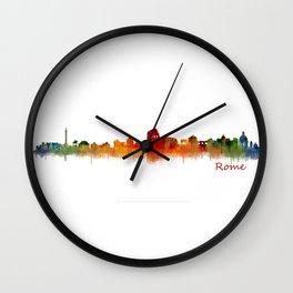 Rome city skyline HQ v02 Wall Clock