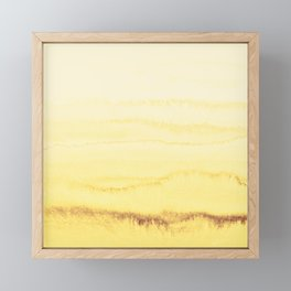 WITHIN THE TIDES - SUNNY YELLOW Framed Mini Art Print