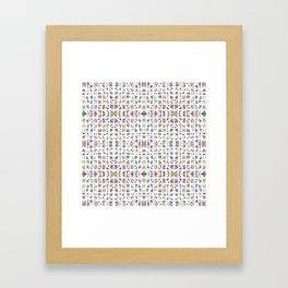 Interrupted Rainbow - a subtle rainbow of colors Framed Art Print
