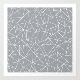 Abstraction Outline Grey Art Print