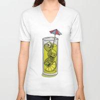 cuba V-neck T-shirts featuring Bajoca Box - Cuba Libre by Bajoca Box