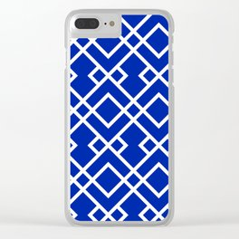 Florida fan gators university orange and blue team spirit football college sports lattice trellis Clear iPhone Case