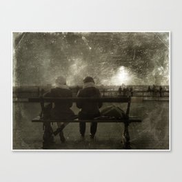 ON THE BENCH Canvas Print