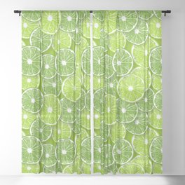 Lime pop Sheer Curtain