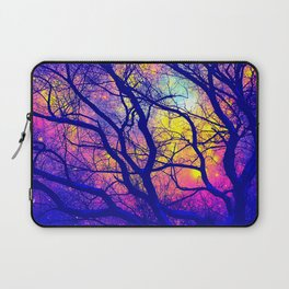 Black Trees Deep Bright & Colorful Space Laptop Sleeve