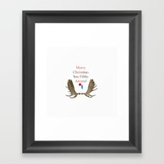 Merry Christmas You Filthy Animal Framed Art Print