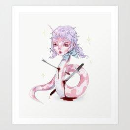 The Mythical Snake Girl Art Print