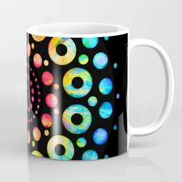 Multi-Color Mandala Tie-Dye Circle Shapes Coffee Mug