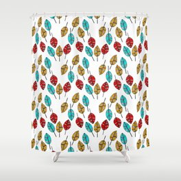 3 little leaves pattern Shower Curtain
