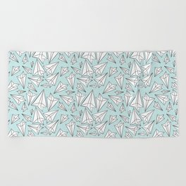 Paper Airplanes Mint Beach Towel