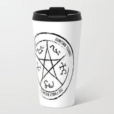 Supernatural Devil's Trap (black on white) Travel Mug