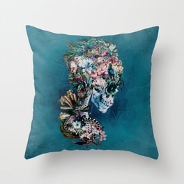 Floral Skull RP Throw Pillow