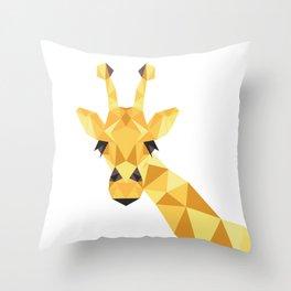a giraffe Throw Pillow