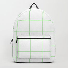 Graph Paper (Light Green & White Pattern) Backpack
