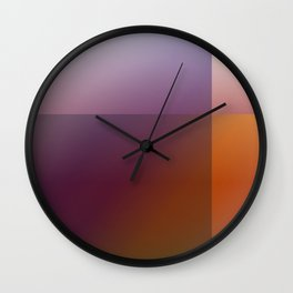 Geometric Gradient Blocks Wall Clock