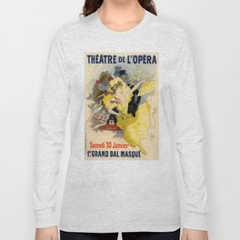 Belle Epoque vintage poster, French Theater, Theatre de L'Opera Long Sleeve T-shirt