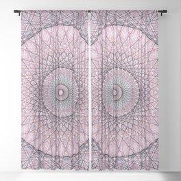 Modern Abstract Geometric Mandala c14206 Sheer Curtain