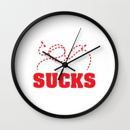 Funny Laser Tag Party T-Shirt Mode On Laser Tag Sucks Wall Clock
