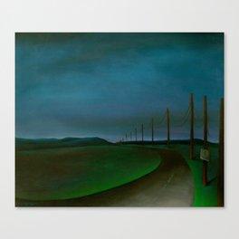Lost On A Dark Highway Canvas Print