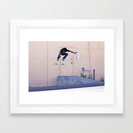 Heelflip II Framed Art Print