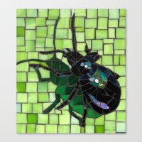 bug Canvas Prints featuring Bug by Bebe Keith Designs