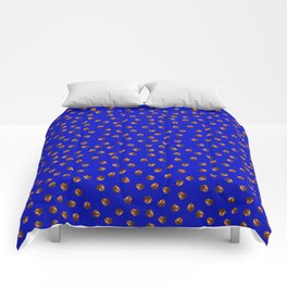 Acorn Pattern-Deep Blue Comforters