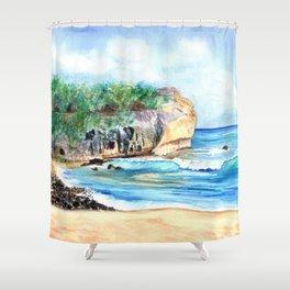 Shipwreck's Beach 4 Shower Curtain