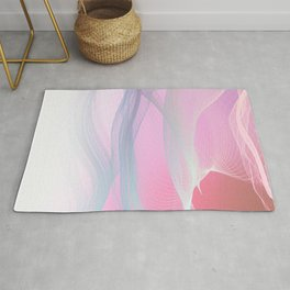 Flow Motion Vibes 1. Pink, Violet and Grey Rug