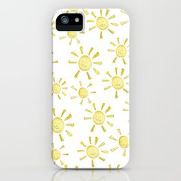 Happy Sunshine Print iPhone Case