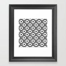 Graphic_Tile Black&White Framed Art Print