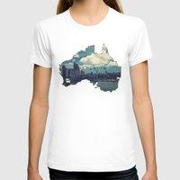 australia T-shirts featuring Australia by elysiancreations