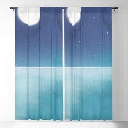 Ocean at night Blackout Curtain
