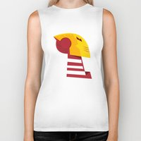 quibe Biker Tanks featuring Classic man of iron by quibe