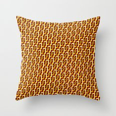 Angle Weave Red & Gold Throw Pillow