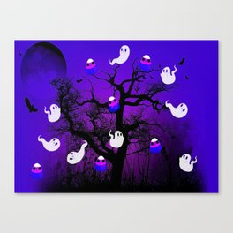 Spooky Candy Tree Canvas Print