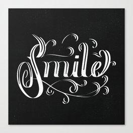 Smile. Lettering Canvas Print