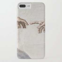 THE CREATION OF ADAM - MICHELANGELO iPhone Case