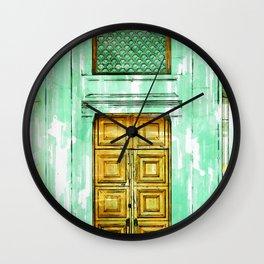 Door In Almaty Kazakhstan - For Doors & Travel Lovers Wall Clock