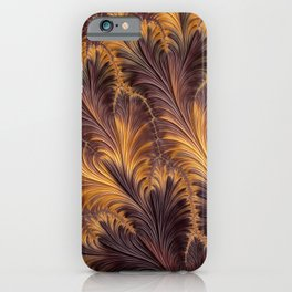 Fractal Feathers iPhone Case