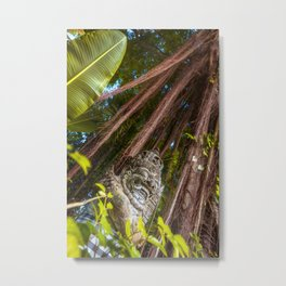 A Barong statue in the forrest of Bali, Indonesia. A fine art print that gives you the feeling of Bali. Metal Print