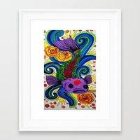 koi fish Framed Art Prints featuring Koi Fish by Laurkinn12