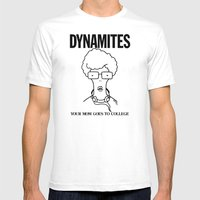 DYNAMITES: YOUR MOM GOES TO COLLEGE X-LARGE Mens Fitted Tee White